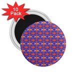 Blue Orange Yellow Swirl Pattern 2.25  Magnets (10 pack)  Front