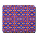 Blue Orange Yellow Swirl Pattern Large Mousepads Front