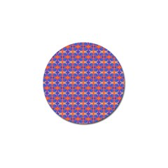 Blue Orange Yellow Swirl Pattern Golf Ball Marker (4 Pack) by BrightVibesDesign