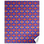 Blue Orange Yellow Swirl Pattern Canvas 16  x 20   20 x16 Canvas - 1
