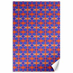 Blue Orange Yellow Swirl Pattern Canvas 24  X 36  by BrightVibesDesign