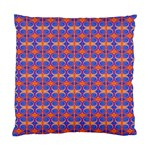 Blue Orange Yellow Swirl Pattern Standard Cushion Case (Two Sides) Front