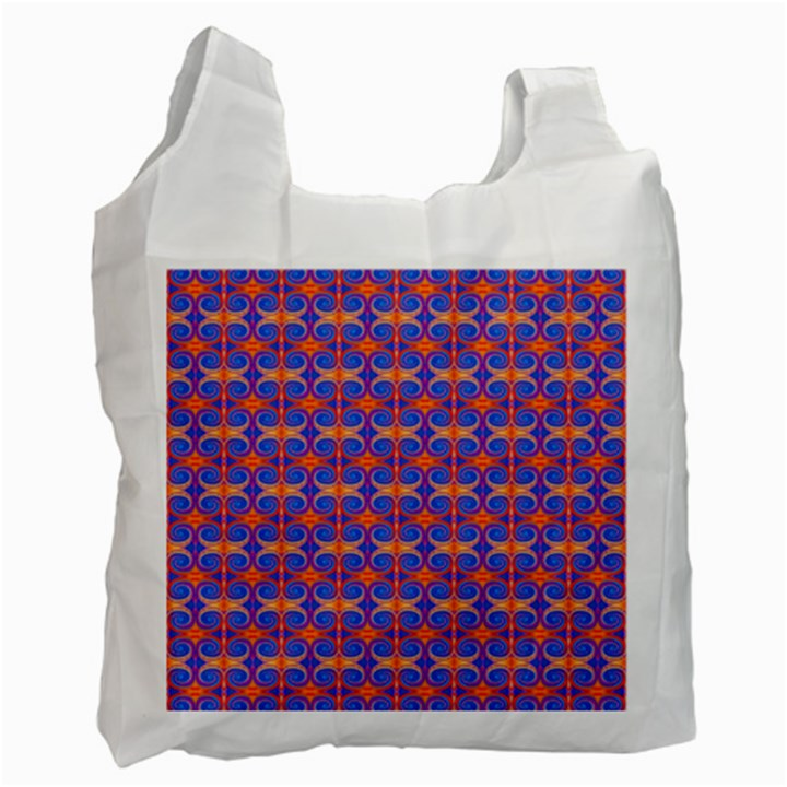 Blue Orange Yellow Swirl Pattern Recycle Bag (One Side)