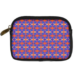 Blue Orange Yellow Swirl Pattern Digital Camera Cases