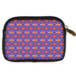 Blue Orange Yellow Swirl Pattern Digital Camera Cases Back