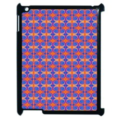 Blue Orange Yellow Swirl Pattern Apple Ipad 2 Case (black) by BrightVibesDesign