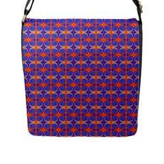 Blue Orange Yellow Swirl Pattern Flap Messenger Bag (l)  by BrightVibesDesign