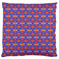 Blue Orange Yellow Swirl Pattern Large Flano Cushion Case (two Sides)