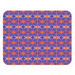 Blue Orange Yellow Swirl Pattern Double Sided Flano Blanket (Large)  80 x60 Blanket Front
