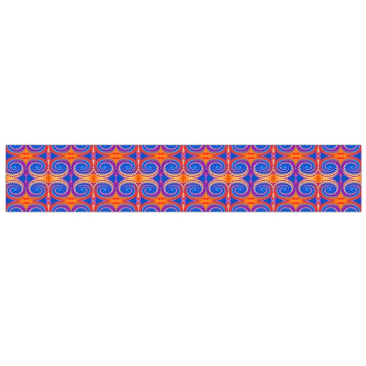 Blue Orange Yellow Swirl Pattern Flano Scarf (Large)