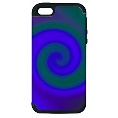 Swirl Green Blue Abstract Apple Iphone 5 Hardshell Case (pc+silicone) by BrightVibesDesign