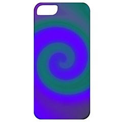 Swirl Green Blue Abstract Apple Iphone 5 Classic Hardshell Case by BrightVibesDesign