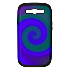 Swirl Green Blue Abstract Samsung Galaxy S Iii Hardshell Case (pc+silicone)