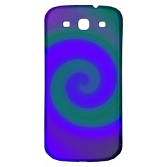 Swirl Green Blue Abstract Samsung Galaxy S3 S Iii Classic Hardshell Back Case