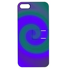 Swirl Green Blue Abstract Apple Iphone 5 Hardshell Case With Stand by BrightVibesDesign
