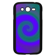 Swirl Green Blue Abstract Samsung Galaxy Grand Duos I9082 Case (black) by BrightVibesDesign