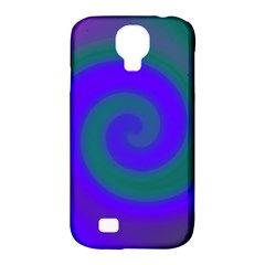 Swirl Green Blue Abstract Samsung Galaxy S4 Classic Hardshell Case (pc+silicone)