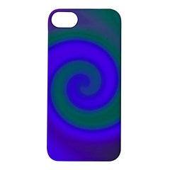 Swirl Green Blue Abstract Apple Iphone 5s/ Se Hardshell Case by BrightVibesDesign