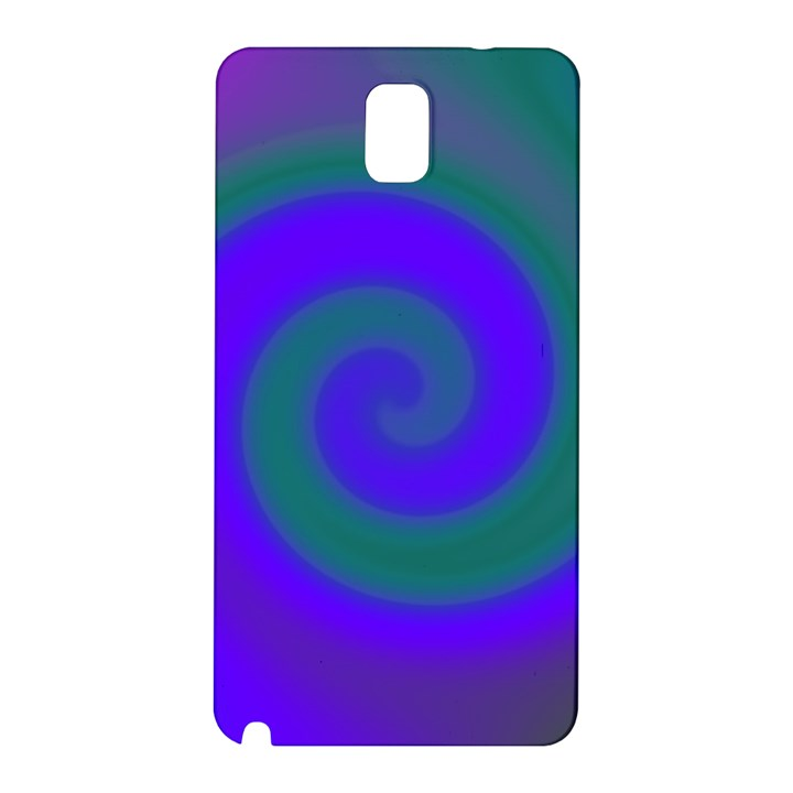 Swirl Green Blue Abstract Samsung Galaxy Note 3 N9005 Hardshell Back Case