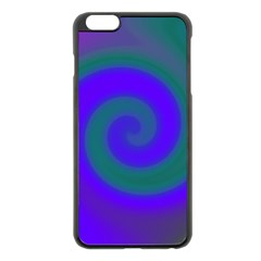 Swirl Green Blue Abstract Apple Iphone 6 Plus/6s Plus Black Enamel Case by BrightVibesDesign