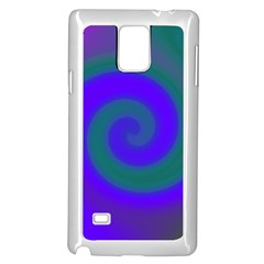 Swirl Green Blue Abstract Samsung Galaxy Note 4 Case (white)