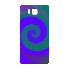 Swirl Green Blue Abstract Samsung Galaxy Alpha Hardshell Back Case by BrightVibesDesign