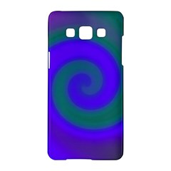 Swirl Green Blue Abstract Samsung Galaxy A5 Hardshell Case  by BrightVibesDesign