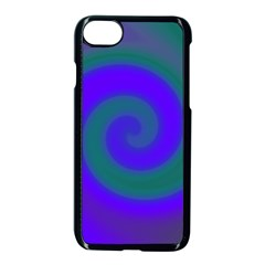 Swirl Green Blue Abstract Apple Iphone 7 Seamless Case (black)