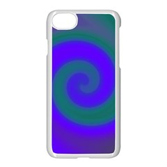 Swirl Green Blue Abstract Apple Iphone 7 Seamless Case (white) by BrightVibesDesign