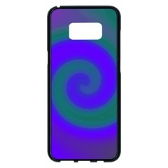 Swirl Green Blue Abstract Samsung Galaxy S8 Plus Black Seamless Case