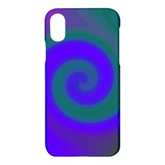 Swirl Green Blue Abstract Apple Iphone X Hardshell Case