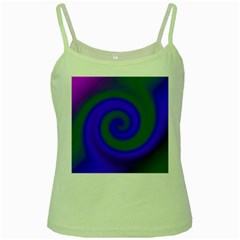 Swirl Green Blue Abstract Green Spaghetti Tank by BrightVibesDesign