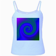 Swirl Green Blue Abstract Baby Blue Spaghetti Tank