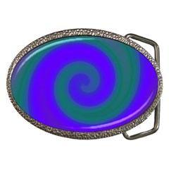 Swirl Green Blue Abstract Belt Buckles by BrightVibesDesign