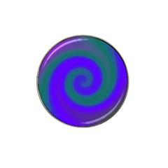 Swirl Green Blue Abstract Hat Clip Ball Marker