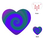 Swirl Green Blue Abstract Playing Cards (Heart)  Front