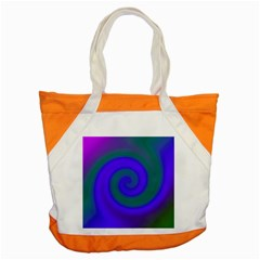 Swirl Green Blue Abstract Accent Tote Bag