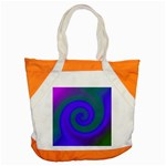 Swirl Green Blue Abstract Accent Tote Bag Front