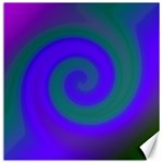 Swirl Green Blue Abstract Canvas 12  x 12   12 x12 Canvas - 1