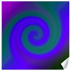 Swirl Green Blue Abstract Canvas 16  X 16   by BrightVibesDesign