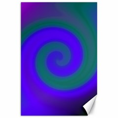 Swirl Green Blue Abstract Canvas 24  X 36