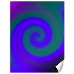 Swirl Green Blue Abstract Canvas 36  X 48   by BrightVibesDesign