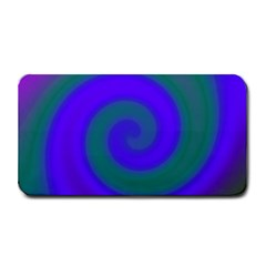 Swirl Green Blue Abstract Medium Bar Mats by BrightVibesDesign
