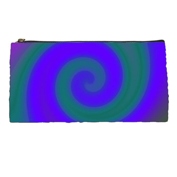 Swirl Green Blue Abstract Pencil Cases