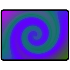 Swirl Green Blue Abstract Fleece Blanket (large)