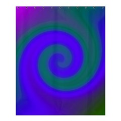 Swirl Green Blue Abstract Shower Curtain 60  X 72  (medium)  by BrightVibesDesign