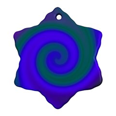 Swirl Green Blue Abstract Ornament (snowflake) by BrightVibesDesign