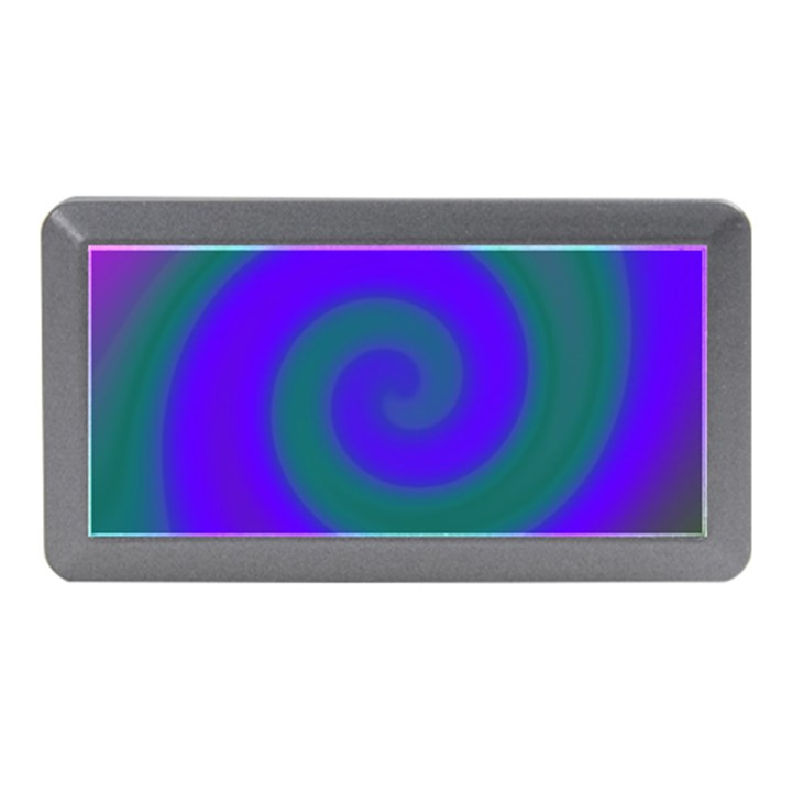 Swirl Green Blue Abstract Memory Card Reader (Mini)