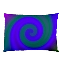 Swirl Green Blue Abstract Pillow Case (two Sides)