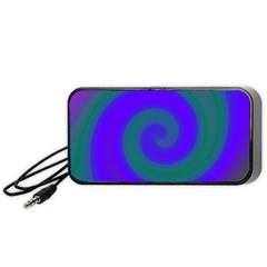 Swirl Green Blue Abstract Portable Speaker